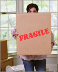 Moving box fragile