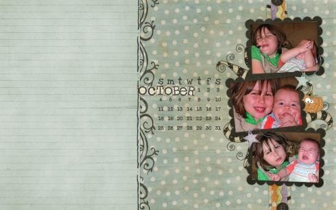 calendar october 2009  shabby princess